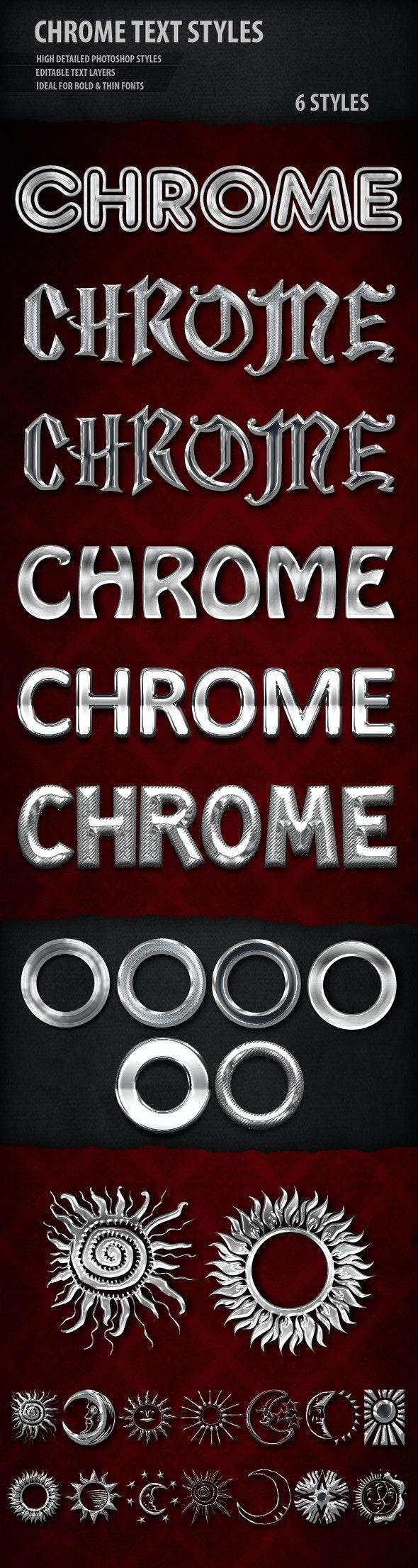 Chrome Text Styles - Styles Photoshop