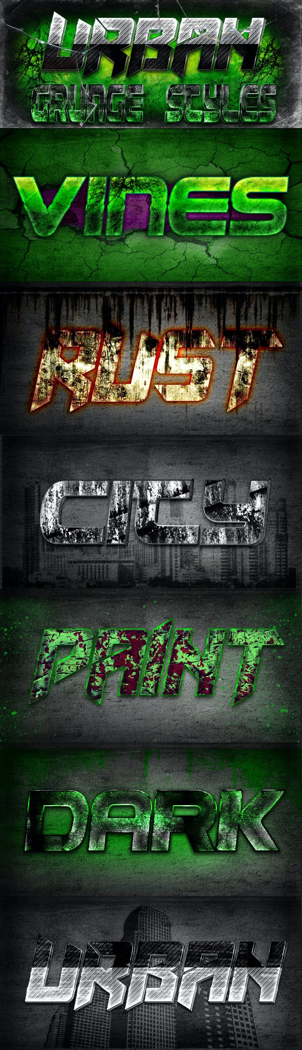 Urban Grunge Styles - Text Effects Styles