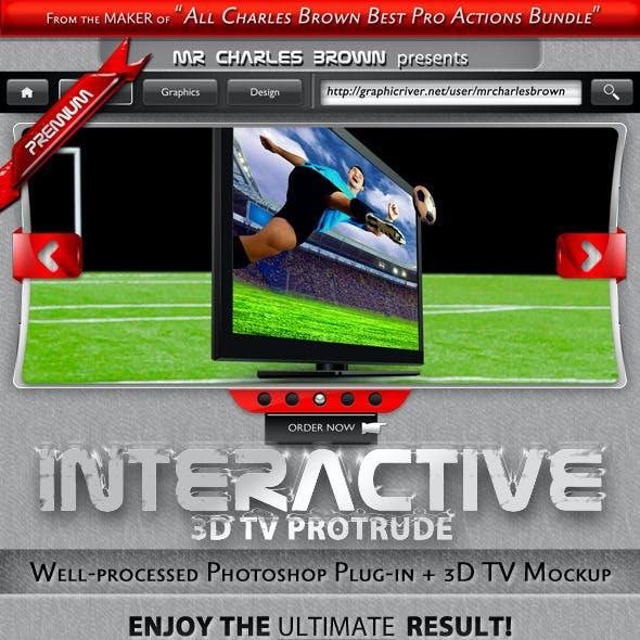 Interactive 3D TV Protrude