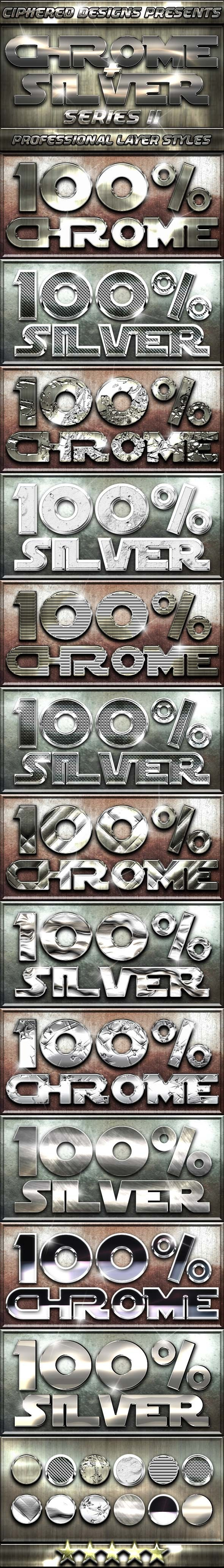 Chrome & Silver Series II - Professional Styles - Text Effects Styles