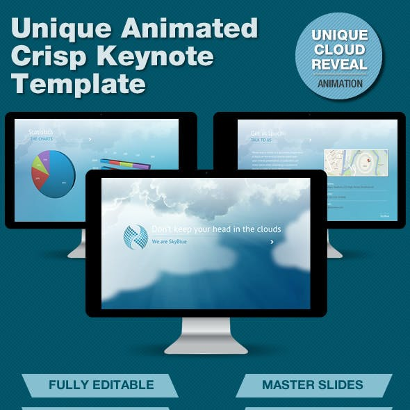 SkyBlue Keynote Template with Unique Animation