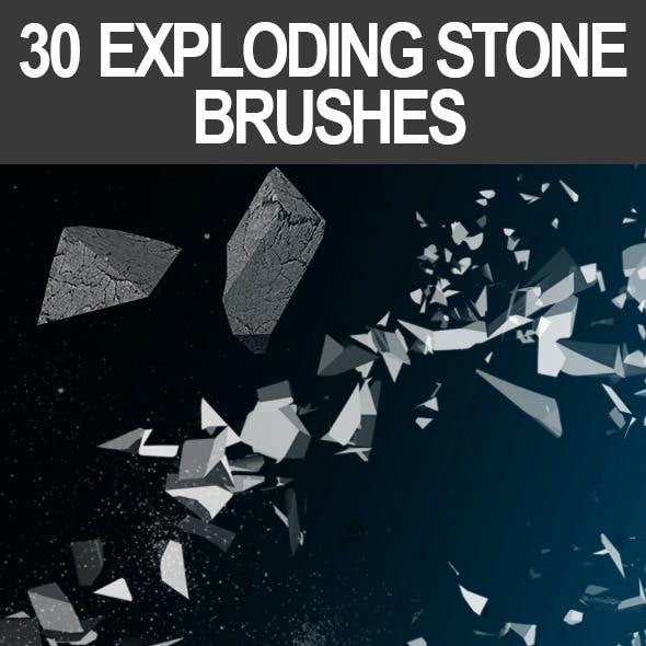 30 Exploding Stone Brushes