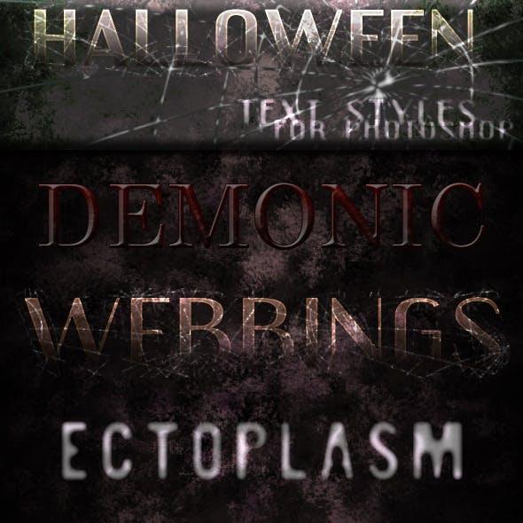 Halloween Text-Styles