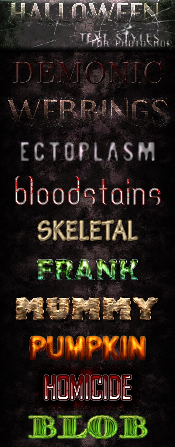 Halloween Text-Styles - Text Effects Styles