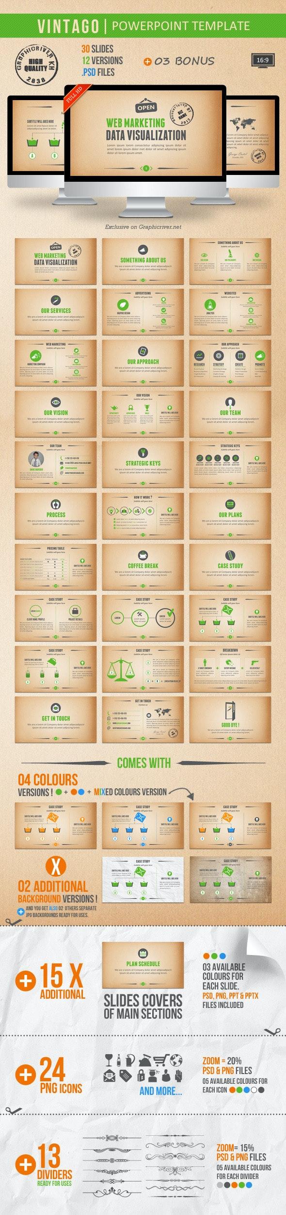 Vintago Powerpoint Template - Creative PowerPoint Templates