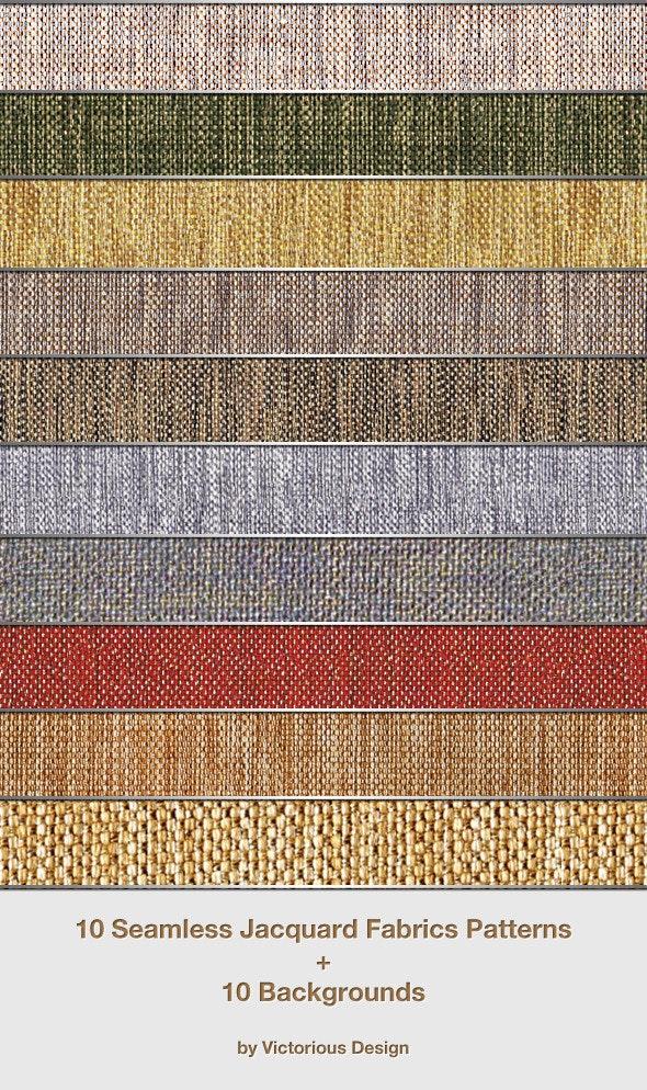 10 Seamless Jacquard Fabrics Patterns - Miscellaneous Textures / Fills / Patterns
