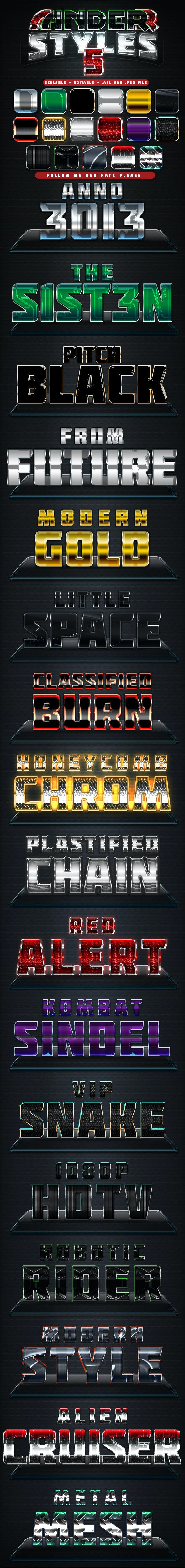 Anderr Styles 5 - Text Effects Styles