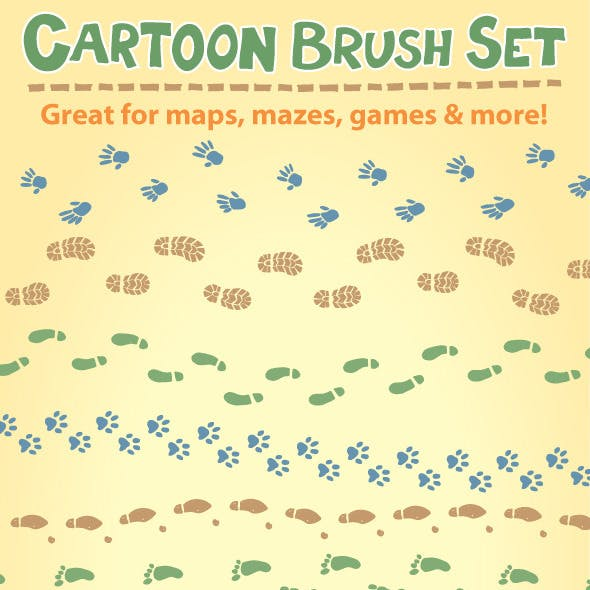 Cartoon Brush Set
