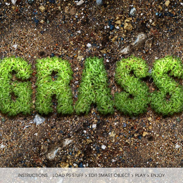 Hi-Res Photorealistic Grass Text Action
