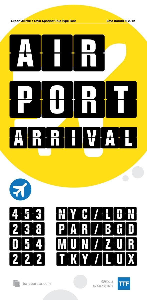 Airport Arrival - Sans-Serif Fonts