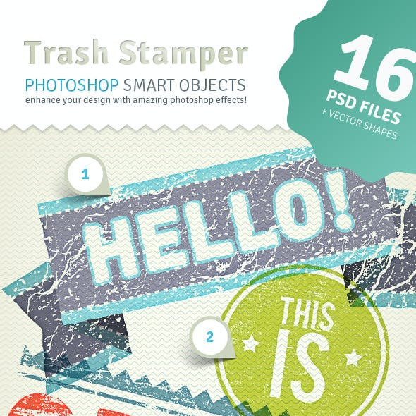 2D Trash Stamper - Photoshop Smart Objects