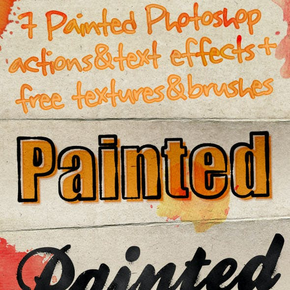 Painted Photoshop Text Effects & Actions