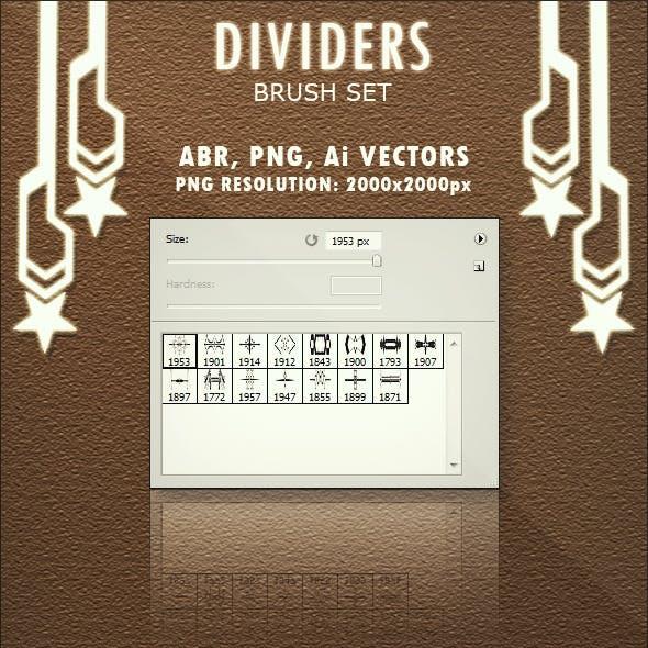 Dividers - Brush Set