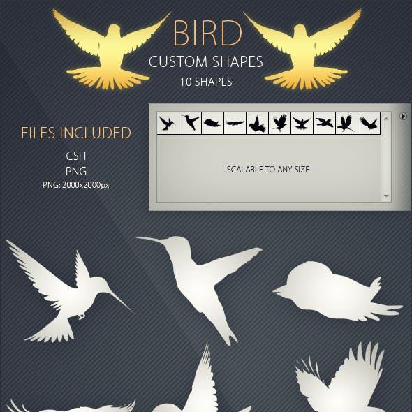 Bird Custom Shapes