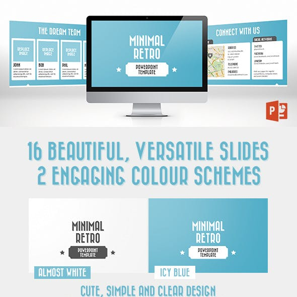 Minimal Retro PowerPoint Template