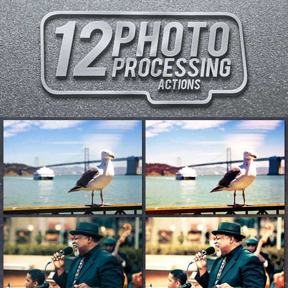 12 Photo Processing Actions