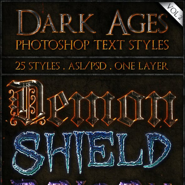 Dark Ages vol. 2 - Text Styles