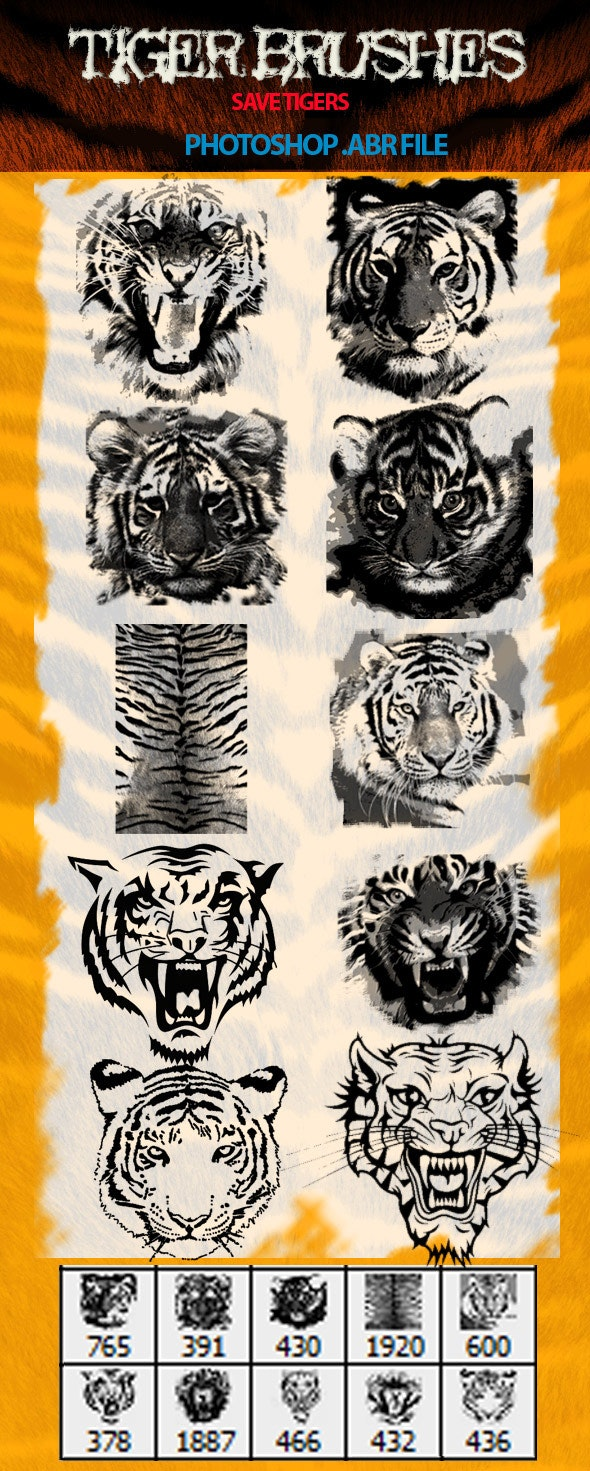 Tiger Brushes - Texture Brushes
