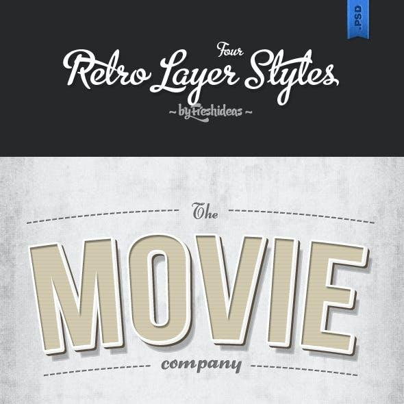 4 Retro Layer Styles