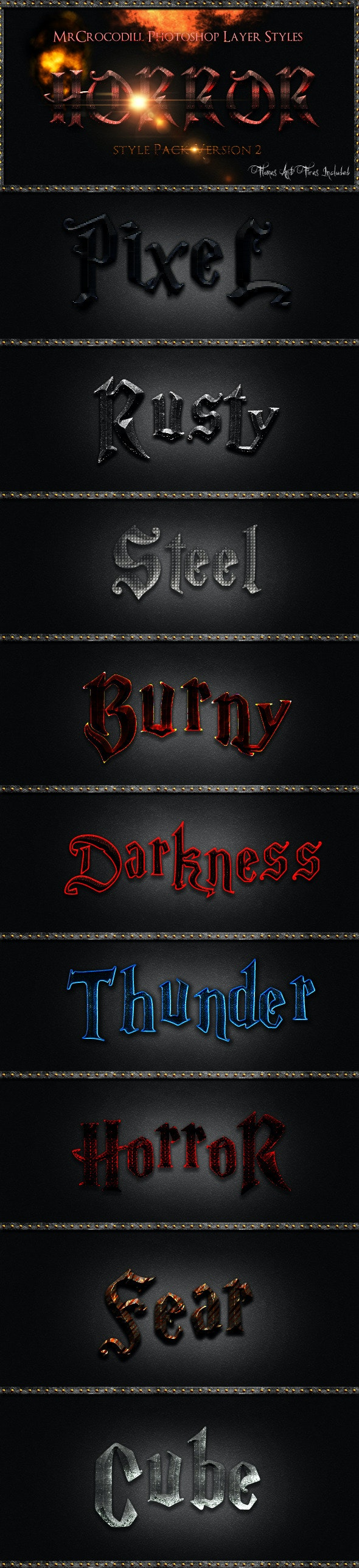 Horror Styles V2 - Text Effects Styles