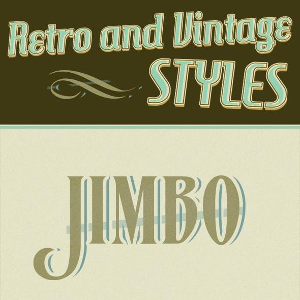 Retro And Vintage Styles