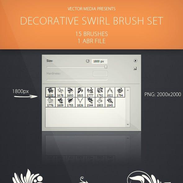 Decorative Swirl - Brush Set