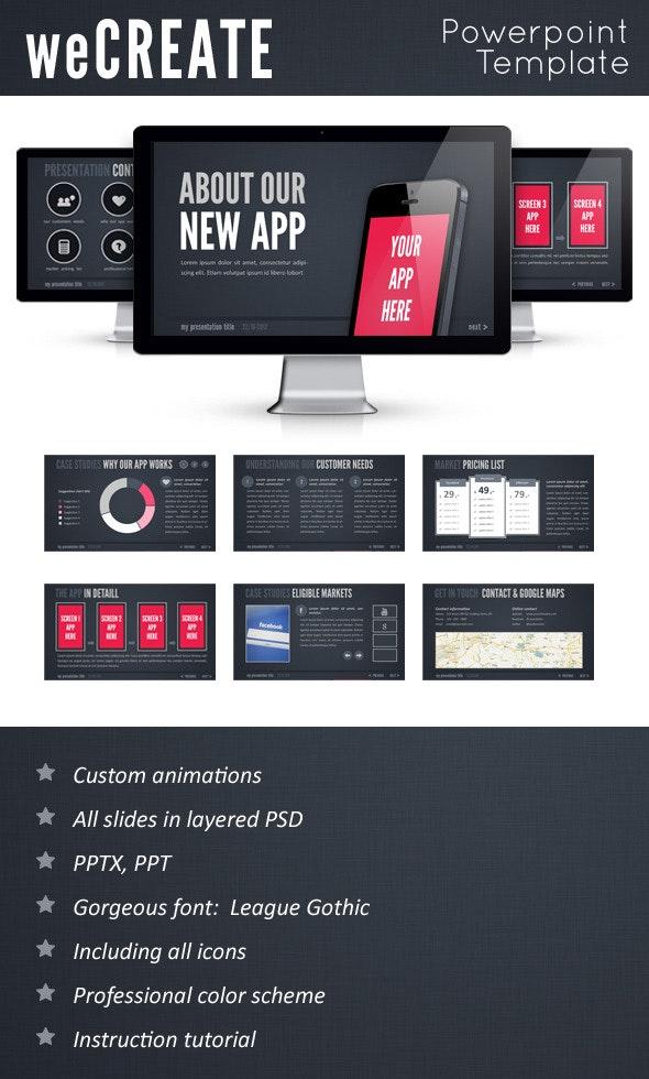 WeCreate PowerPoint Template - PowerPoint Templates Presentation Templates
