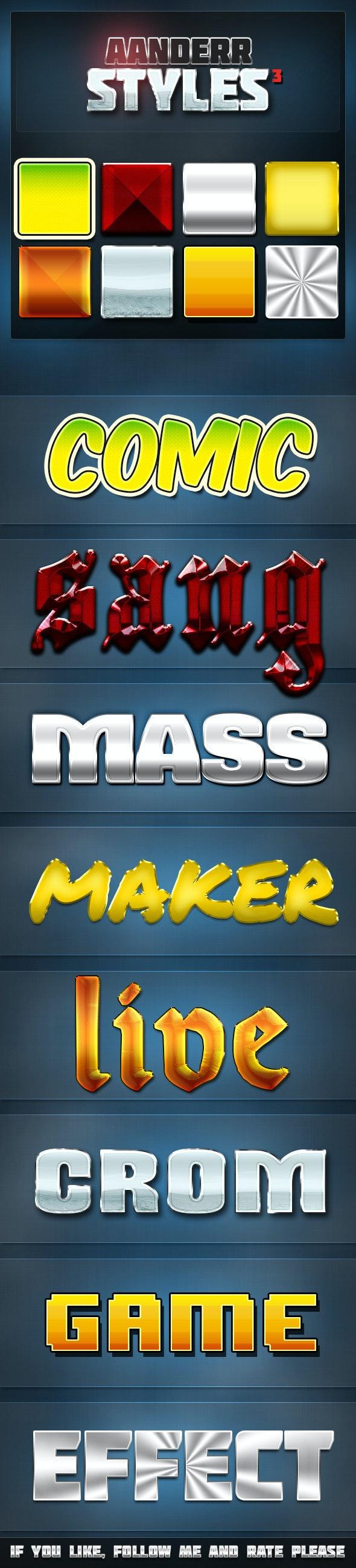 Aanderr Styles 3 - Styles Photoshop
