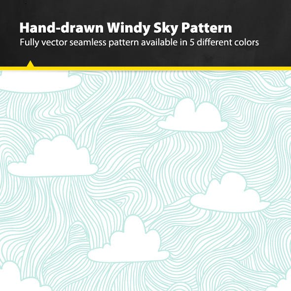Hand-drawn Windy Sky Pattern