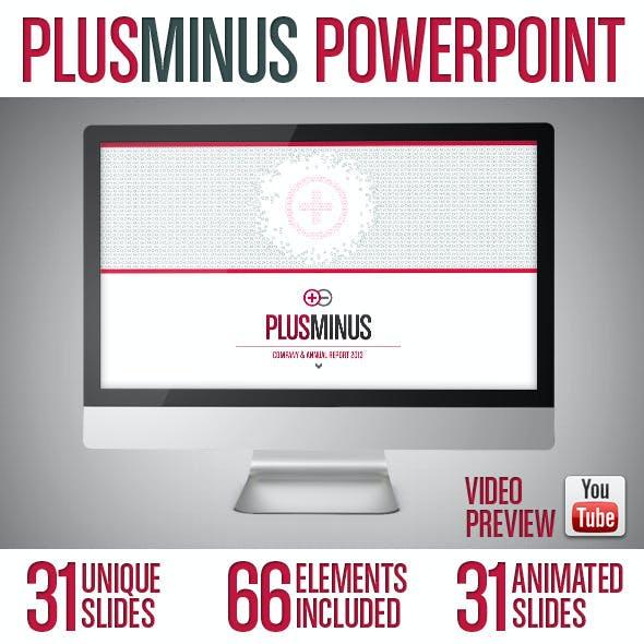 PLUSMINUS - PowerPoint Presentation Template