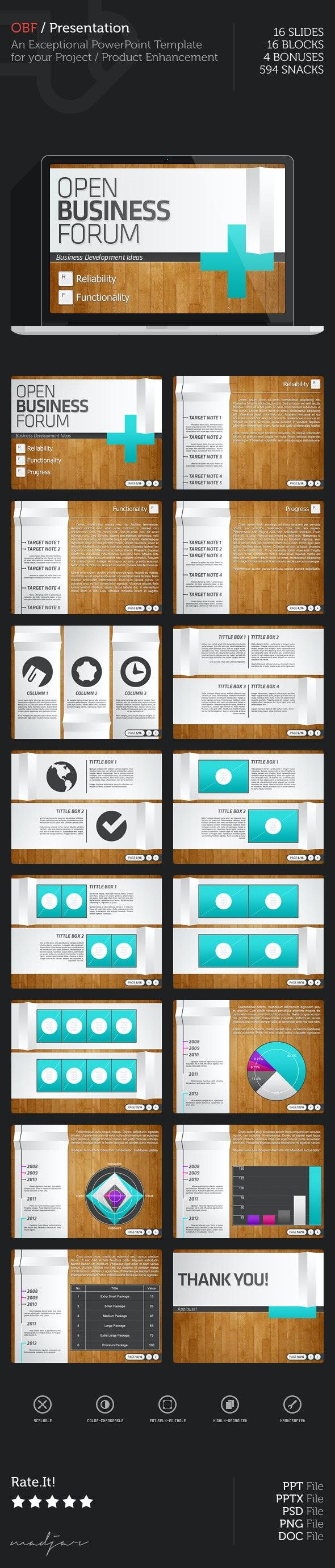 Open Business Forum PowerPoint Presentation - PowerPoint Templates Presentation Templates