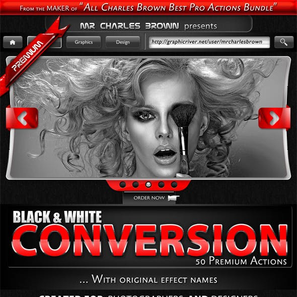 50 High-end Black and White Conversion