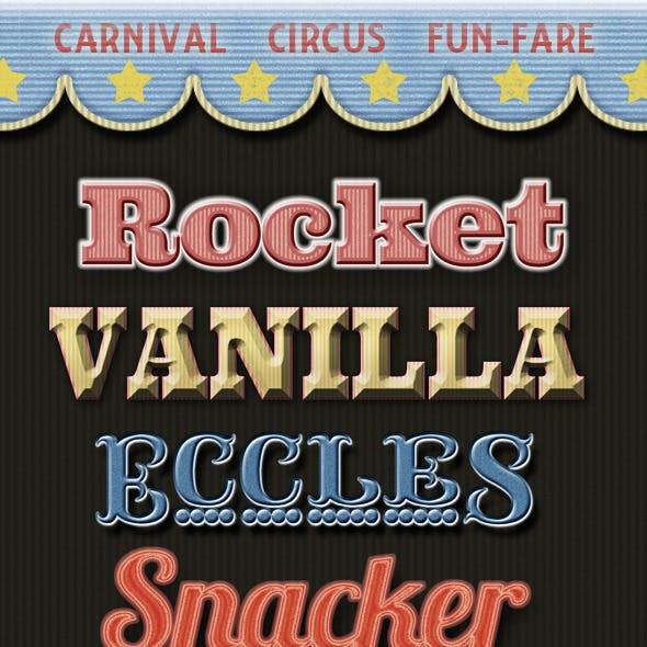 Retro Style Carnival, Circus Show & Fun Park