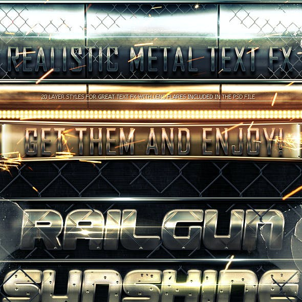 Realistic Metal Text FX
