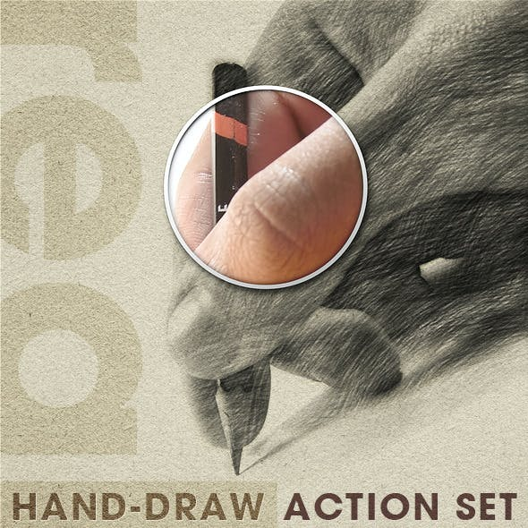 Realistic Hand Draw Generator Action Set