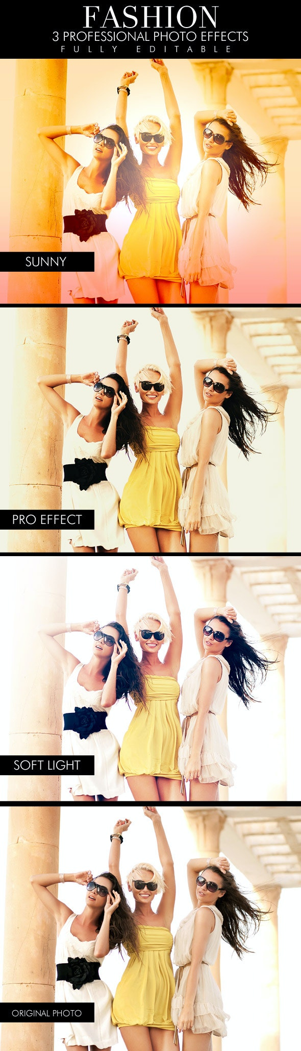 Fashion - 3 photo effects - Photo Effects Actions