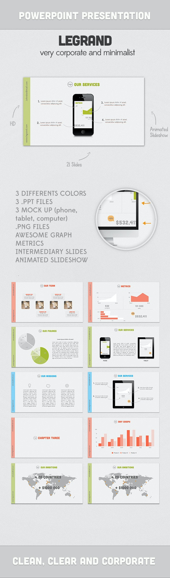 LEGRAND presentation - PowerPoint Templates Presentation Templates