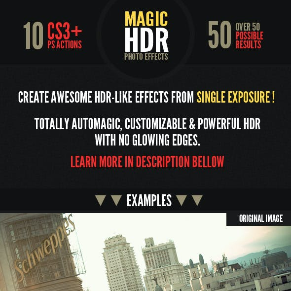 Magic HDR Photohosp Actions