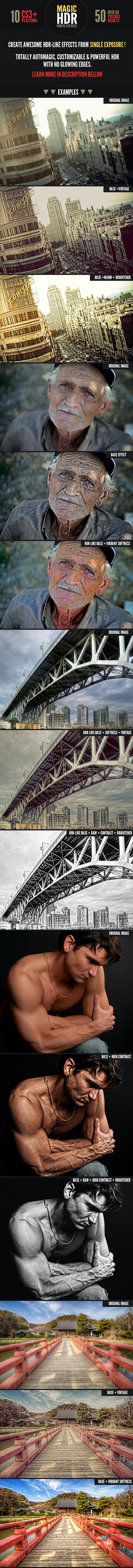 Magic HDR Photohosp Actions - Photo Effects Actions