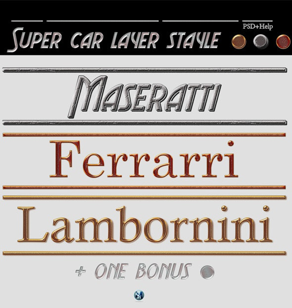 Supercar Layer style - Text Effects Styles