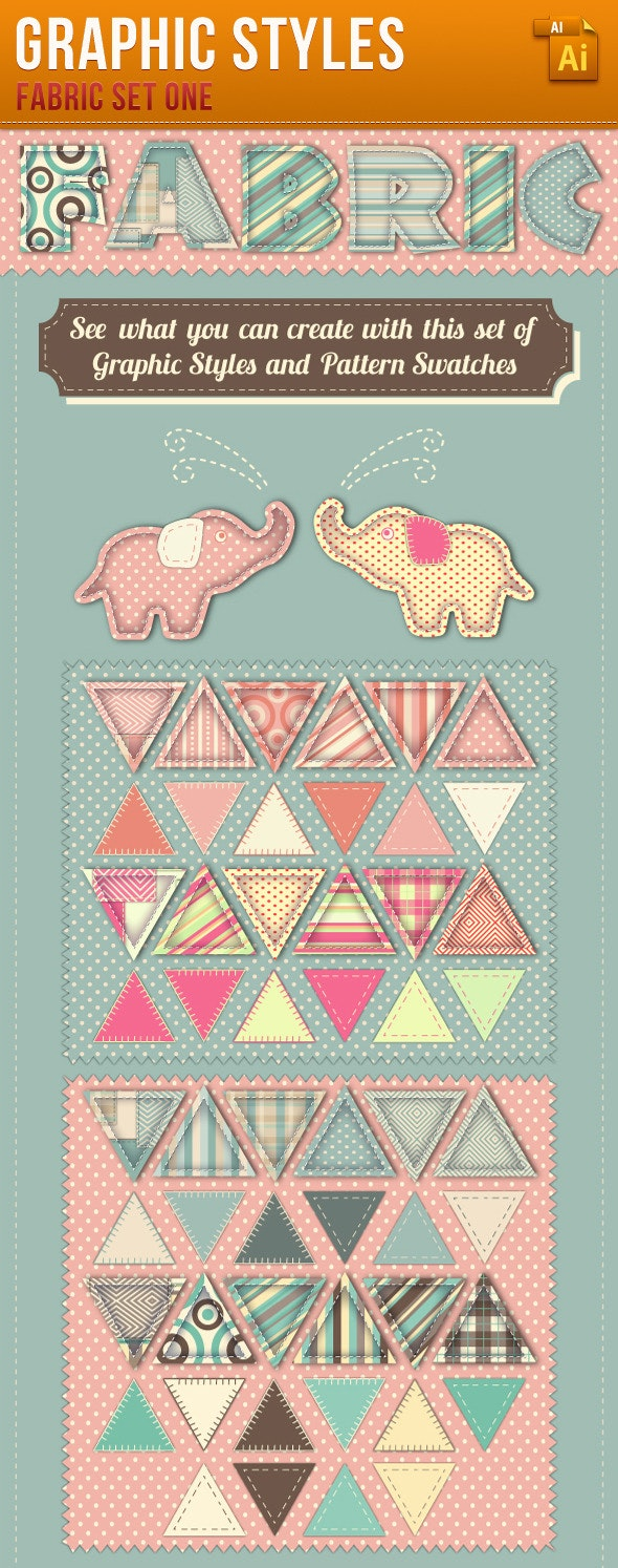 Fabric Graphic Styles and Patterns - Styles Illustrator