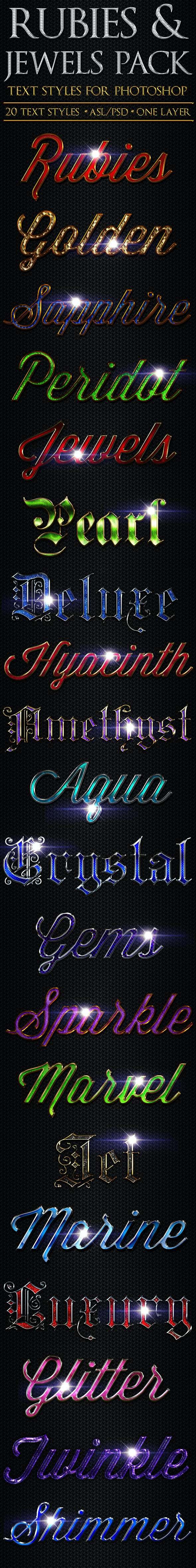 Rubies & Jewels - Text Styles - Text Effects Styles