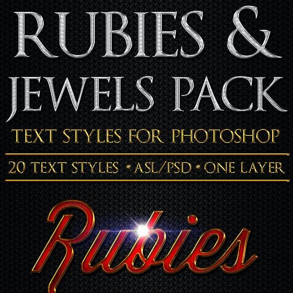 Rubies & Jewels - Text Styles