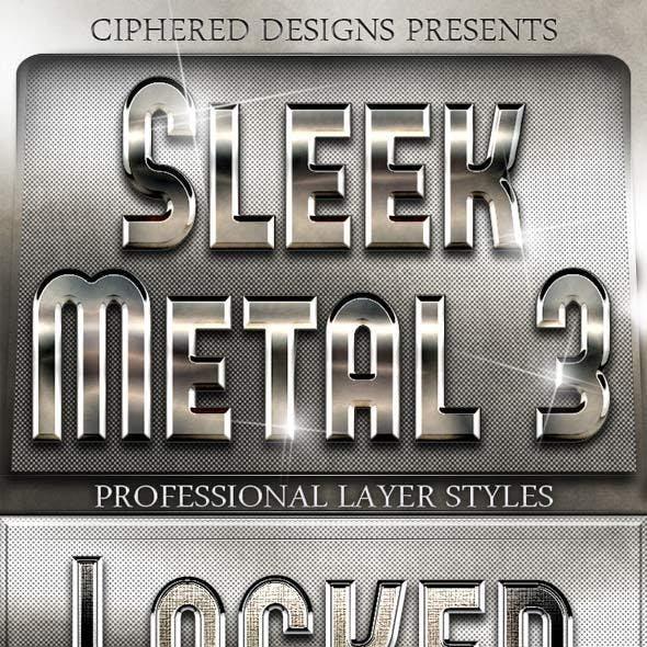 Sleek Metal III - Professional Layer Styles