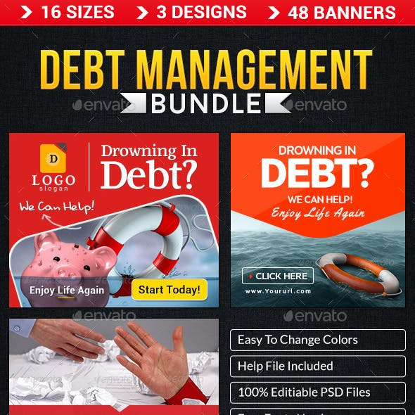 Debt Management Banner Bundle - 3 sets