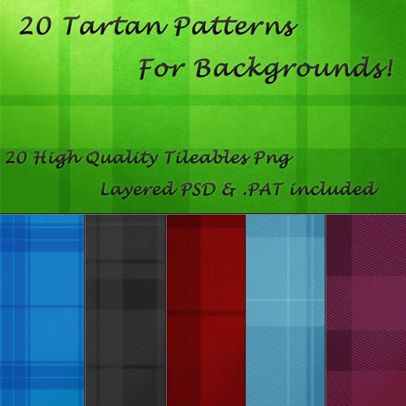 20 Tileable Tartan Background Textures & Pattern