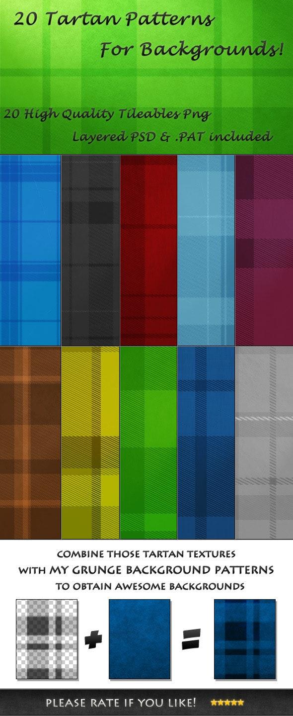 20 Tileable Tartan Background Textures & Pattern - Textures / Fills / Patterns Photoshop