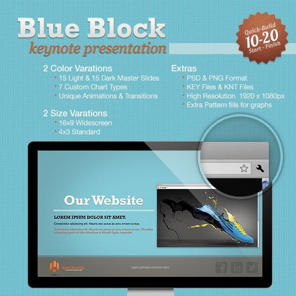 Blue Block Keynote Template