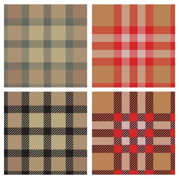 Textile Seamless Pattern Set  - Textures / Fills / Patterns Illustrator