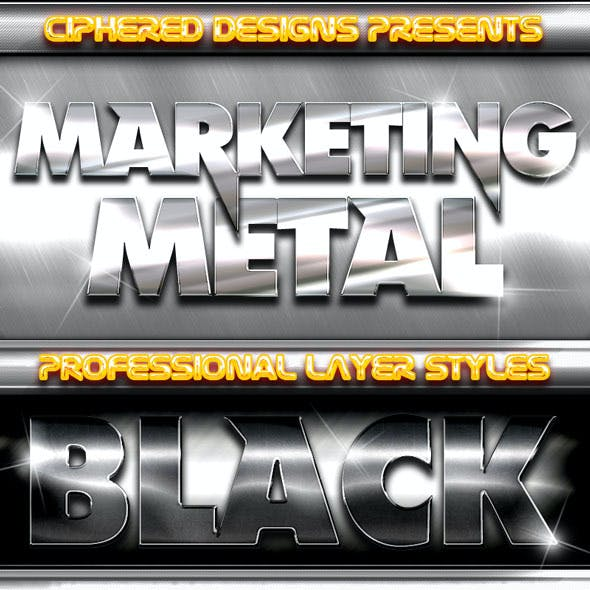 Marketing Metal - Professional Layer Styles